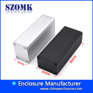 China new type small Aluminum extruded enclosure for pcb AK-C-C79 80*35*25mm factory