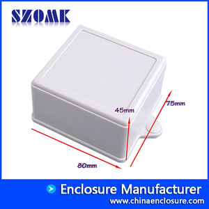 China plastic enclosure electronics wall mounting plastic junction box AK-W-14 ,80x75x45mm factory