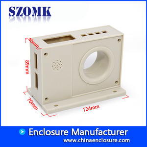 China shenzhen company instrument power supply case PLC control industrial plastic enclosure size 124*70*89mm factory