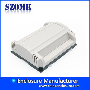China szomk flame retardant material switch control din rail enclosure plastic box / AK80008 factory