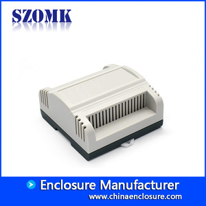 China Factory abs plastic enclosure din rail enclosure PLC box for electronics from SZOMK AK80010 111*107*55mm factory