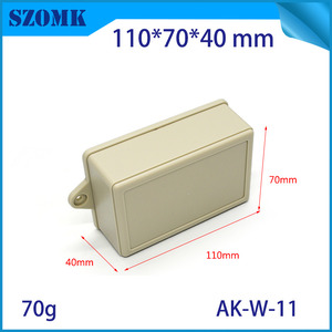 Chine wall mounting plastic enclosure with hinge for PCB AK-W-11 110*70*40mm usine