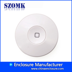 China wireless round routing shell infrared transponder housing home smart controller junction enlcosure size 110*36mm factory