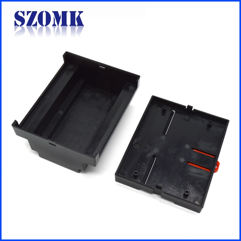 ABS plastic din rail industry control enclosure housing for PCB AK-DR-04 107*89*59mm