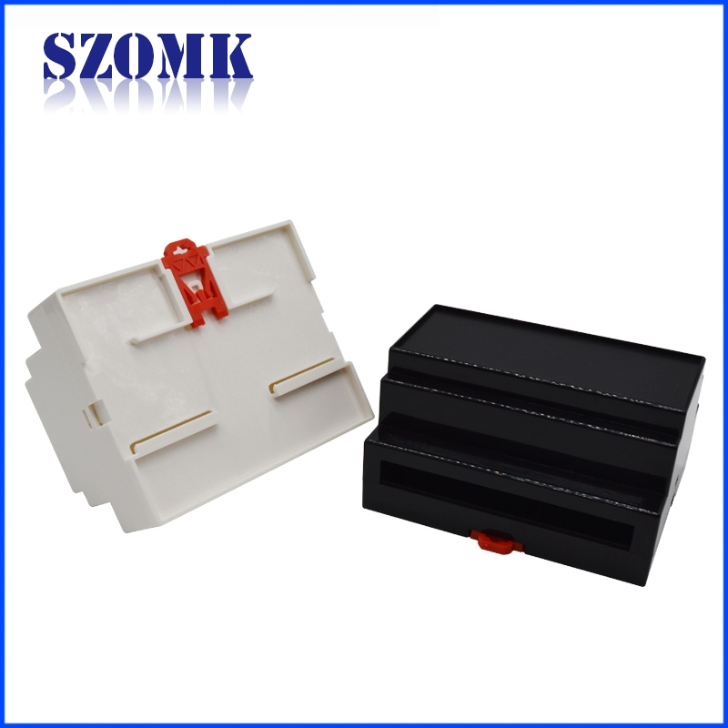 China hot sale abs plastic din rail junction enclosure supply AK-DR-04 107 * 87 * 59mm