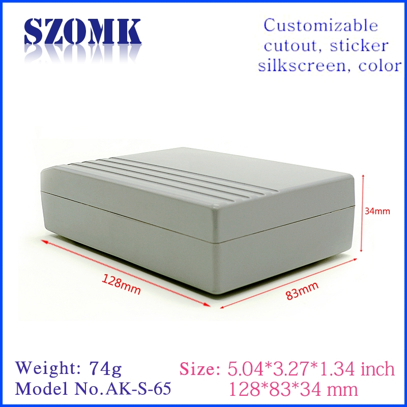 Guangdong high quality 177X94X35mm project abs plastic junction enclosure manufacture/AK-S-52