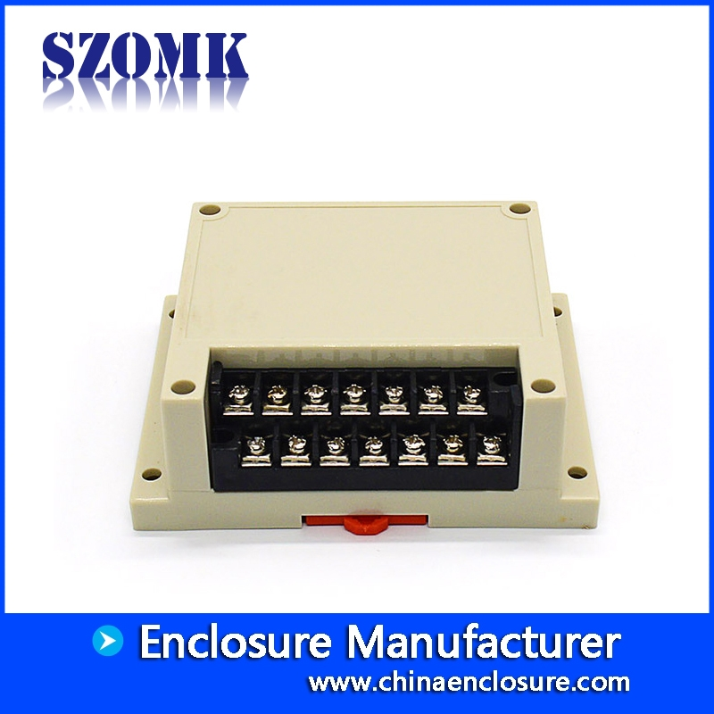 Manufacturer supplier Plastic Terminal Blocks Din Rail Box Enclosure AK-P-02 115*90*40mm