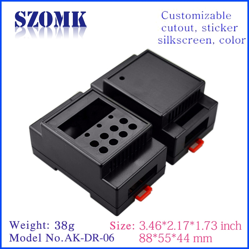 Gungdong high quality electrical distribution 65X45X28mm din rail mounting clip enclosure supply/AK-DR-07