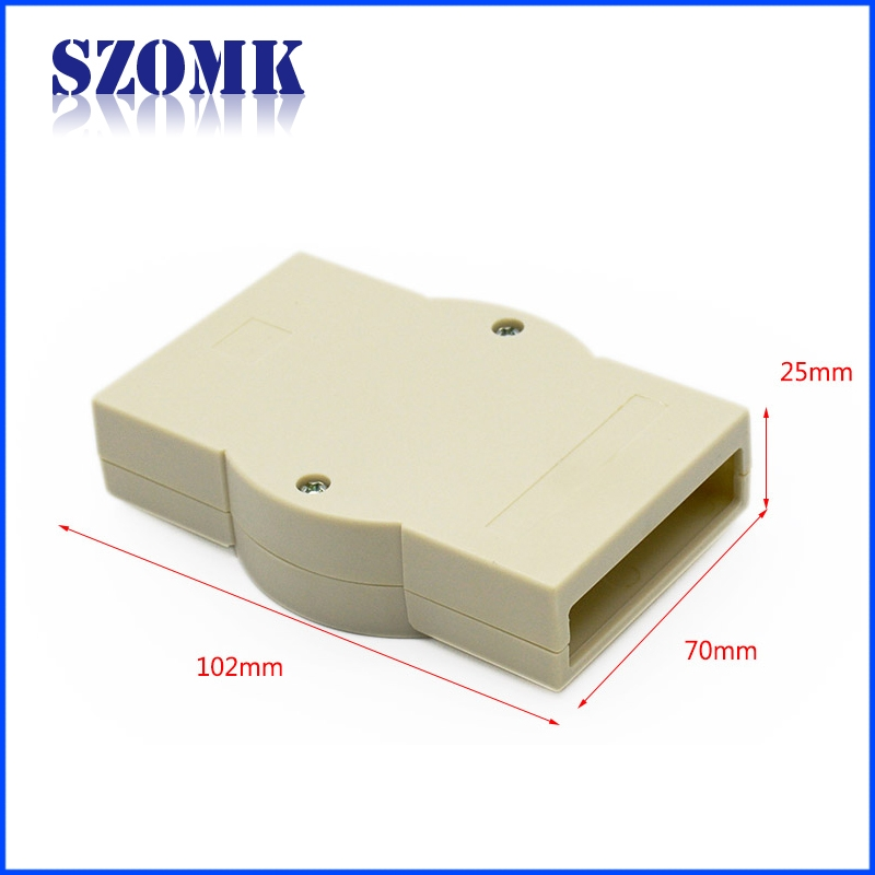 China hot sale electrical 107X70X25mm abs plastic din rail enclosure supply/AK-DR-08