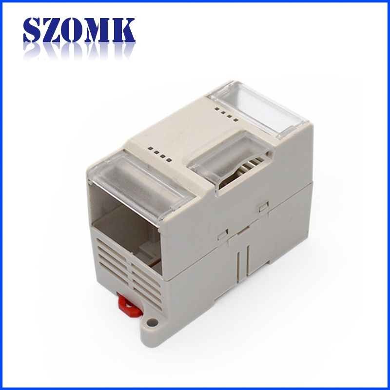Guangdong electronic products 110X65X50mm abs din rail box manufacture/AK-DR-18