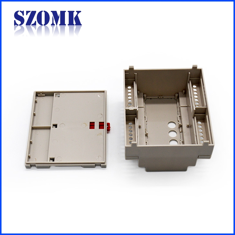 din rail mount enclosure industrial din plastic enclosure relay rail for electronic pcb
