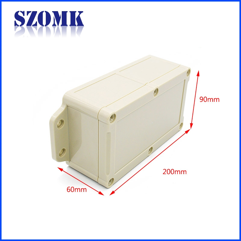 Outdoor Plastic Waterproof Electrical Junction Box Wall Mounted Enclosure Szomk Plastic